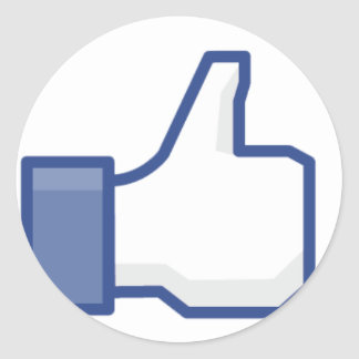 """Facebook """"Like"""" Hand Round Sticker"""