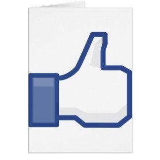 facebook LIKE me thumb up! Card