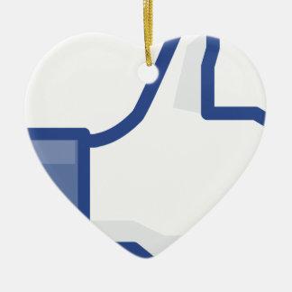 facebook LIKE me thumb up! Ceramic Ornament