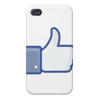 facebook LIKE me thumb up iPhone 4 Cover