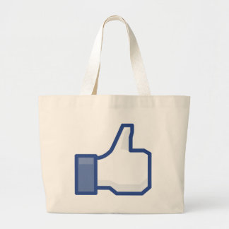 facebook LIKE me thumb up! Large Tote Bag