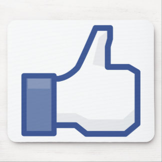 facebook LIKE me thumb up! Mouse Pad