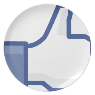 facebook LIKE me thumb up! Plate