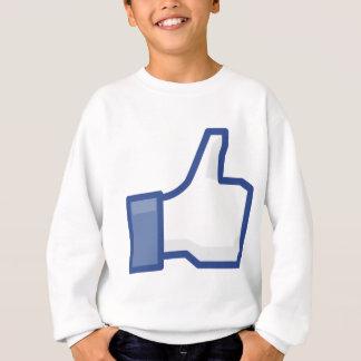 facebook LIKE me thumb up! Sweatshirt