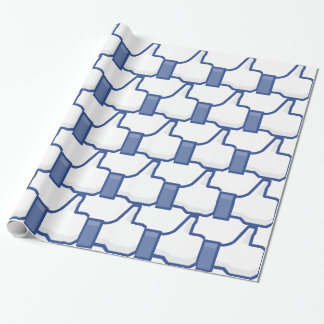 facebook LIKE me thumb up! Wrapping Paper