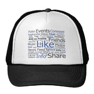 Facebook - like, poke, tagged, friends trucker hat