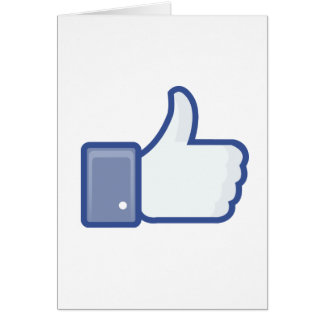 facebook LIKE thumb up icon graphic Card