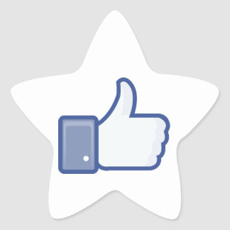 facebook LIKE thumb up icon graphic Star Stickers