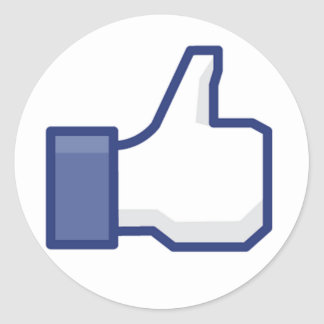 facebook LIKE thumb up Round Stickers