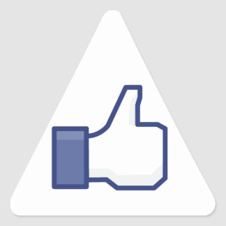 facebook LIKE thumb up Triangle Sticker