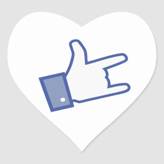 Facebook like You Rock thumb Rock and Roll icon Sticker