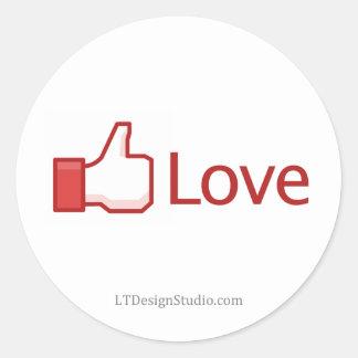 Facebook Love Button - Stickers