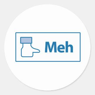 Facebook Meh Round Sticker