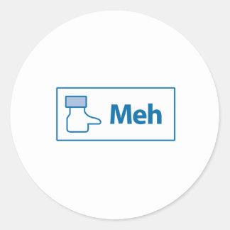 Facebook Meh Sticker