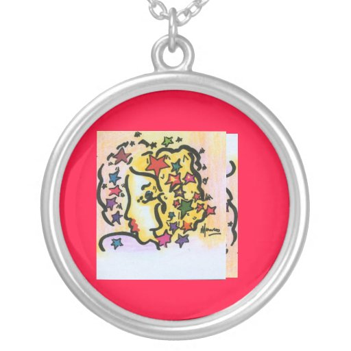 Facebook Peter Max style art necklace