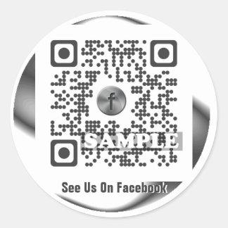 Facebook QR Code Sticker (Template Net2tag QR#543)