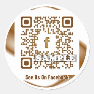 Facebook QR Code Sticker (Template Net2tag QR#545) Round Sticker