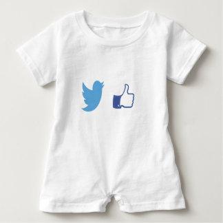 Facebook Twitter Baby Romper