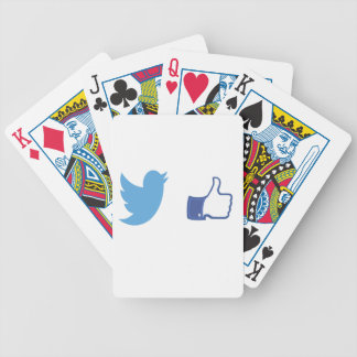 Facebook Twitter Bicycle Playing Cards