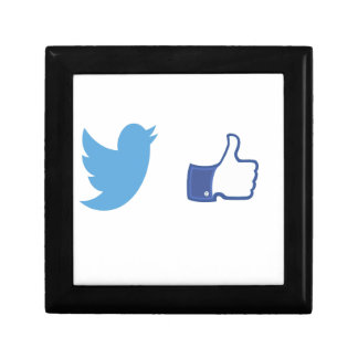 Facebook Twitter Gift Box