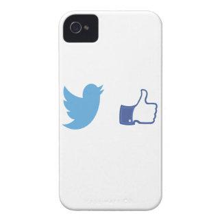 Facebook Twitter iPhone 4 Case