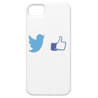 Facebook Twitter iPhone 5 Case