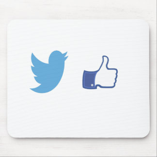 Facebook Twitter Mouse Pad