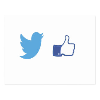 Facebook Twitter Postcard