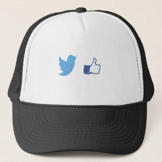 Facebook Twitter Trucker Hat