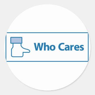 Facebook Who Cares Round Sticker