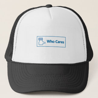 Facebook Who Cares Trucker Hat