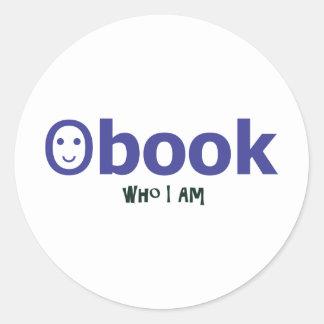 facebook who I am Round Sticker
