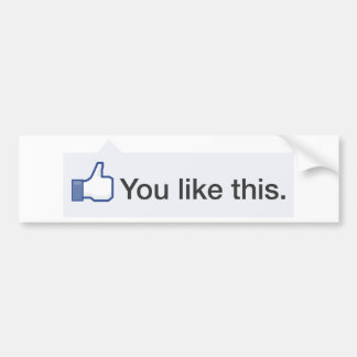 facebook YOU LIKE THIS graphic Bumper Sticker