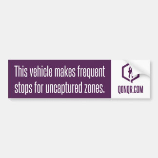 Faceless Frequent Stops Bumper Sticker