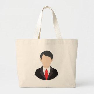 Faceless Man Large Tote Bag