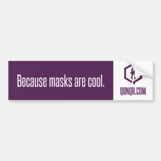 Faceless Masks Bumper Sticker