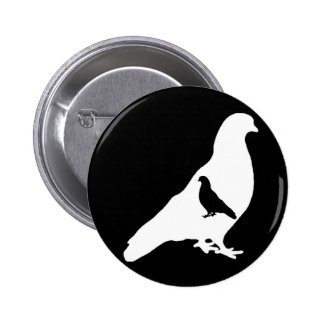 Faceless Pigeons 2 Inch Round Button