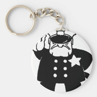 faceless servant of the law basic round button keychain