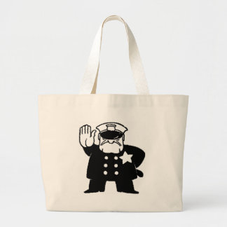 faceless servant of the law large tote bag