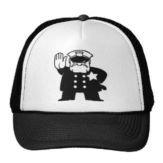 faceless servant of the law trucker hat