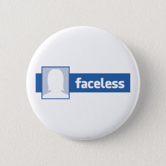 Faceless Woman - Anonymous Profile Pic 2 Inch Round Button