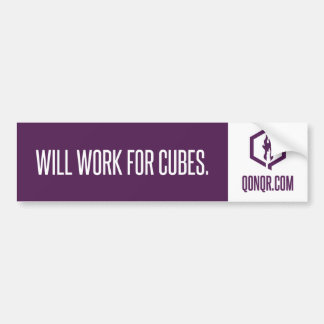 Faceless Work for Cubes Bumper Sticker
