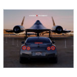 """Faceoff"" Nissan GT-R Taking on a SR-71 Poster"