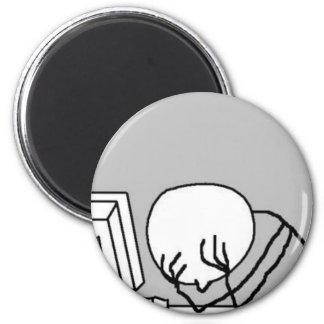 Facepalm Desktop 2 Inch Round Magnet