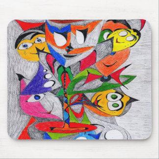 Faces-3 Tapis De Souris