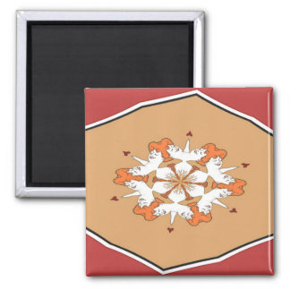 Faces Abstract Square Magnet