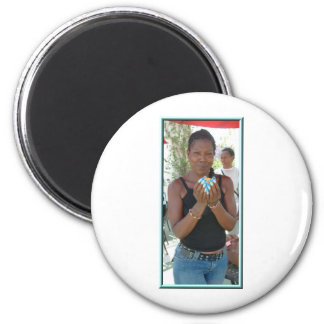 Faces Beautiful Women 2 Inch Round Magnet