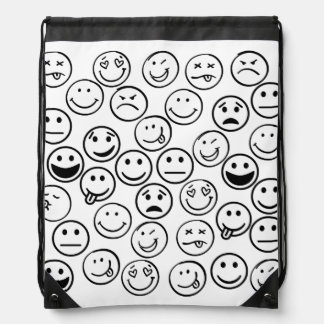 Faces Drawstring Bag