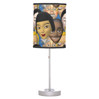 Faces From Around The World Desk Lamps