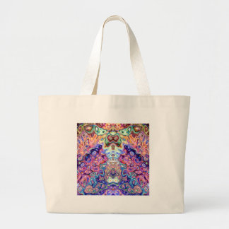 Faces In Abstract Shapes 8 Jumbo Tote Bag